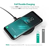 Wireless Charger RAVPower Standard QI Wireless Charging Pad for iPhone X / 8 / 8 Plus 10W Fast Wireless Charge for Samsung Galaxy S8 / S8 Plus / Note 8 and All Qi-Enabled Phones (Adapter No Included)