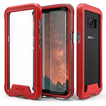 Samsung Galaxy S8 Plus Case, Zizo [ION Series] w/ FREE [Samsung Galaxy S8 Plus Screen Protector] Crystal Clear [Military Grade] for S8+ Rose Gold/Clear 4326781286