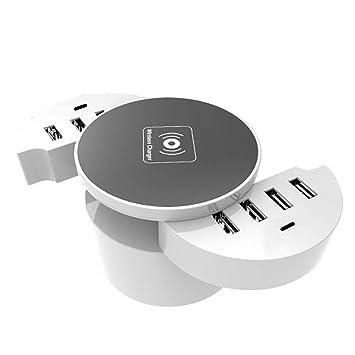 HJJH Concentrador de Cargador USB de 8 Puertos, estación de ...