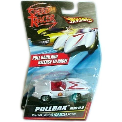 Hot Wheels Speed Racer Mach 5 Pullbax Motor For Extra (Racers Mach 5 Toy)