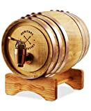 Wooden Whiskey Barrel Dispenser & Stand 1 Liter