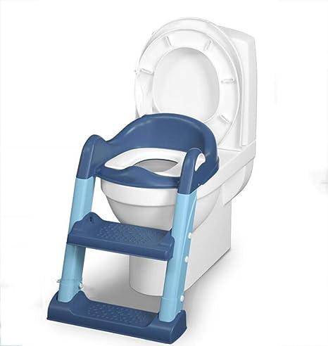 Inodoro infantil escalera de baño para el hogar niño y niña almohadilla para el anillo del inodoro estante del inodoro silla de entrenamiento plegable y ajustable resistente El inodoro de los niños: