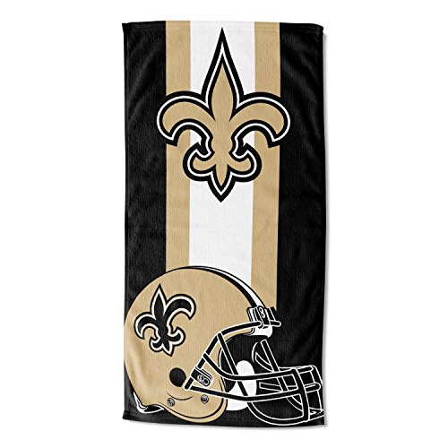 THE NORTHWEST COMPANY Officially Licensed New Orleans Saints Beach Towel, 30' x 60', Multi Color