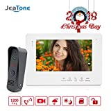 Jeatone 7 Inch TFT Video Door Phone Doorbell Intercom System Night Vision Wired 1 Monitor 1 Camera