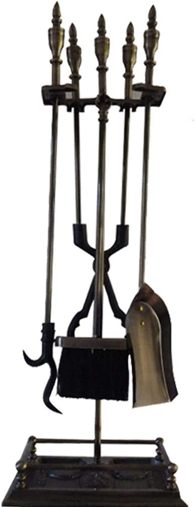 Dongbin Accesorios Herramientas de la Chimenea 4 Pieza chimeneas duraderos Herramientas de Hierro Forjado al Aire Libre de Interior