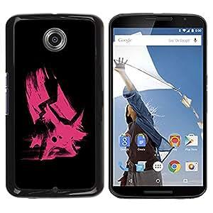 TopCaseStore / la caja del caucho duro de la cubierta de protección de la piel - Pink Poke - Motorola NEXUS 6 / X / Moto X Pro