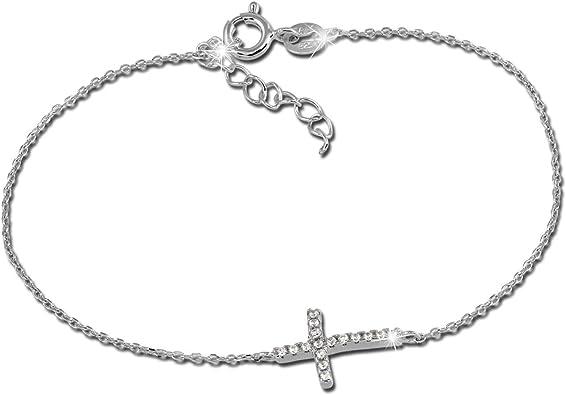 bracelet argent avec croix