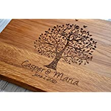 Love Romantic Wedding Gift Cutting Board Wedding Custom 5th Year Anniversary Wood Couple Gift for Wife Girlfriend Sister Mom by Enjoy The Wood