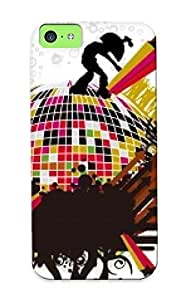 High Quality Inthebeauty Disco Skin Case Cover Specially Designed For Iphone - 5c