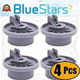 Ultra Durable 165314 Dishwasher Lower Rack Wheel replacement by Blue Stars - Exact Fit for Bosch & Kenmore Dishwasher - Replaces 00420198 420198 - PACK OF 4