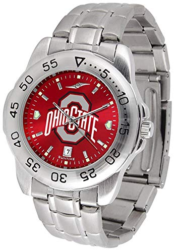 - Ohio State Buckeyes Sport Steel Band Ano-Chrome Men's Watch