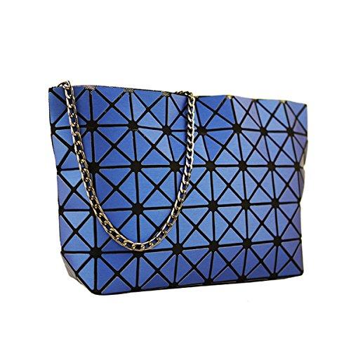 body Plaid Women Geometric For Split Lattice Sanding Matte Bags Handbags Joint Shoulder Flada Ladies Diamond Cross Blue Gold qwHRZZ