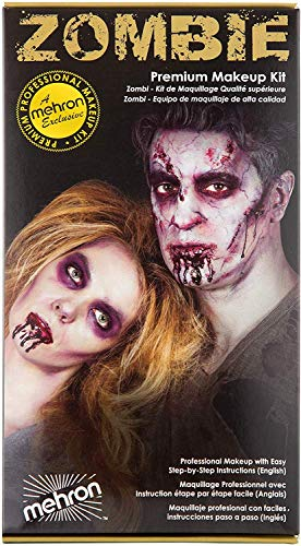 Scary Halloween Make Up Ideas (Mehron Makeup Premium Character Kit)