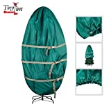 Tiny Tim Totes 83-DT5582 Premium Upright Christmas Tree Canvas Storage Cover Bag | 7.5 FT | Green