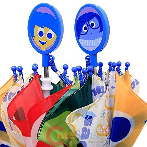 Amazon.com | Disney Inside Out Kids Umbrella Joy Sadness Anger Disgust Insideout Paraguas | Umbrellas