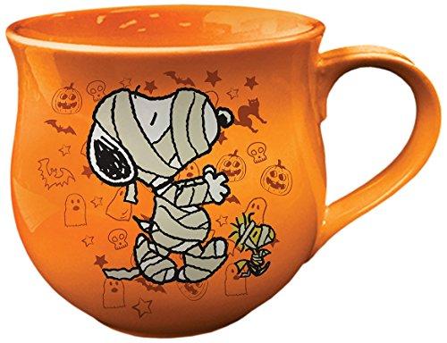 Vandor 85661 Peanuts Halloween Cauldron Ceramic Soup Coffee
