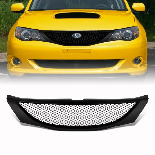 2008 Subaru Impreza Wrx Wagon (VioGi Fit: 08-10 Subaru Impreza WRX Sedan/Hatchback (Wagon) 08-11 Impreza Sedan/Hatchback (Wagon) 1pc Black Coated Finish ABS Plastic JDM Sport Mesh Style Badgeless Front)