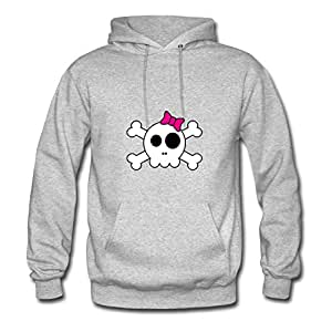 Dorastanl Grey Customizable Lightweight Cool Cute Skully Hoody/women X-large