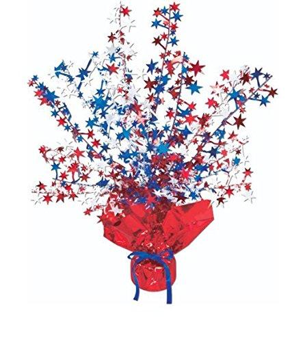 (Star Gleam 'N Burst Centerpiece (Red, White, Blue) Party Accessory (1 Count) (1/pkg))