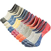 Mens No Show Low Cut Socks Non Slip Casual Ankle Cotton Socks Liner Sox