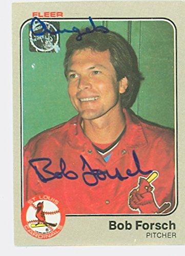 1983 St Louis Cardinals (Bob Forsch AUTOGRAPH d.11 1983 Fleer St. Louis Cardinals)
