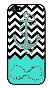 iZERCASE Hakuna Matata Infinity Anchor Chevron RUBBER iPhone 5 / iPhone 5S case - Fits iPhone 5, iPhone 5S T-Mobile, AT&T, Sprint, Verizon and International