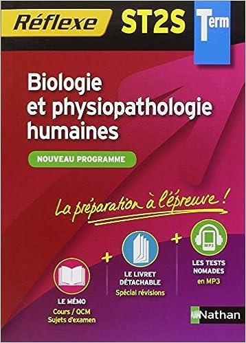 Livres Biologie et physiopathologie humaines - Terminale ST2S pdf epub