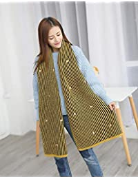 nwn Knitted Scarf Female Winter Cute Heart-Shaped Jacquard Warmth Widened (Color : B)