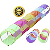 12 ft Tunnel/6 ft Tunnel 2 pack, Peek-a-Boo Kids Play Tunnel, Indoor & Outdoor Pop Up Children Crawl Tunnel Toy Tube, Dog Agility Tunnel, Cat Tunnel, by Hide-n-Side