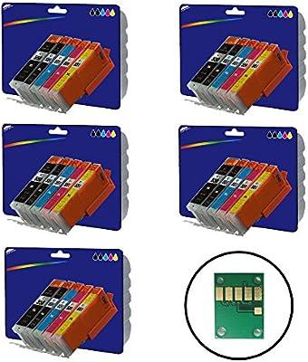 5 Sets de 5 cartuchos de tinta XL no OEM Compatible para Canon ...