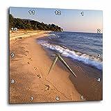 3dRose dpp_72207_2 Africa, Tanzaniz, Lake Tanganika. Beach Footprints-Af45 Gje0021-Gavriel Jecan-Wall Clock, 13 by 13-Inch