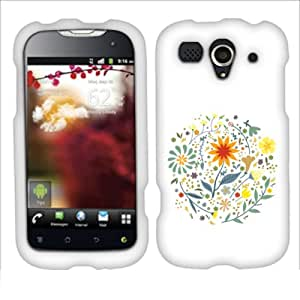 Fincibo (TM) Protector Cover Case Snap On Hard Plastic Front And Back For Huawei myTouch 2 U8680 - Fall Leaves