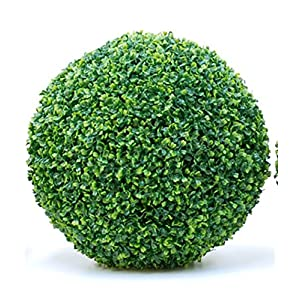 Artificial Boxwood Topiary Ball, Faux Topiary Tree Substitute, Fashion Artificial Plant Ball,Indoor Outdoor Centerpiece for Wedding, Home Décor 59
