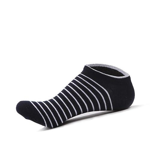Men Socks Calcetines de Tobillo a Rayas para Hombres Calcetines Invisibles Calcetines sin Calcetines Calcetines atléticos Medias de Tubo Komener (Color : As ...