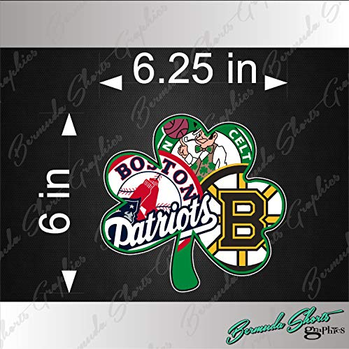 - Bermuda Shorts Graphics Boston Sports Fan New Shamrock Logo/Single / 6