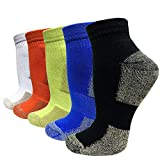 Copper Cushion Running Athletic Socks For Women Men - Antibacterial Cotton Crew Ankle Socks (Assorted, L/XL)