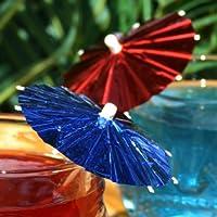 Foil Cocktail Umbrellas/Parasols (Pack of 144) - Cocktail Sticks, Cocktail Accessories & Cocktail Decorations