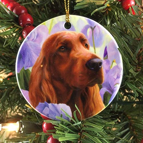 Michael Steddum Irish Setter Iris Setter Christmas Ornament