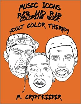 Music Icons - R&B AND RAP Coloring Book: Adult Coloring Book ...