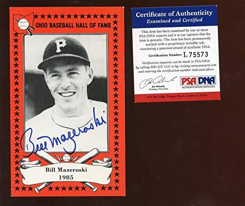 - Ohio Baseball Hall of Fame Bill Mazeroski Card Autographed PSA Cert - Baseball Slabbed Autographed Cards
