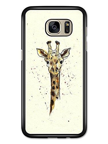 Cute Giraffe Watercolour Animal Wildlife Original Art Illustration case for Samsung Galaxy S7 Edge