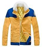 GK-O Naruto Uzumaki Naruto Cosplay Costume Thick Jacket Hoodie Yellow Blue Medium