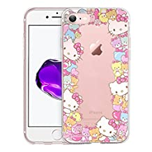 iPhone 6S Plus / iPhone 6 Plus Case Hello Kitty Cute Border Clear Jelly Cover