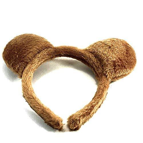 molly & Rose Teddy Bear Ears Brown Furry Aliceband Fancy Dress Hair Accessories World Book Day]()