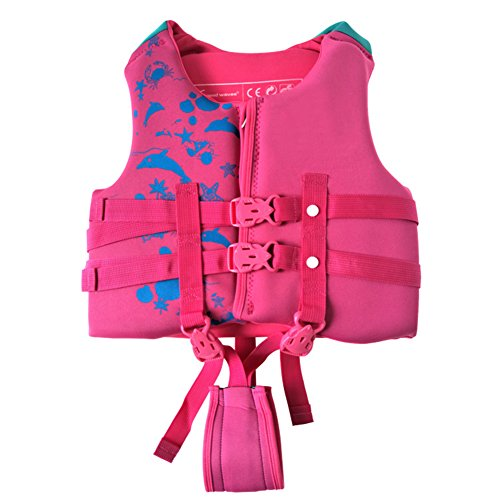 """Child Life Vest, Kisstaker Life Jacket Child Water Buddies Boating Waterski Swimming Guard Vest for 17-66 lbs ,30""""-52""""Children (Pink, Small)"""