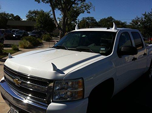 White Hoodaments Bull Horns for Cars