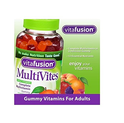 Vitafusion MultiVites Gummy Vitamins for Adults – 250 Multivitamin Gummies Per Bottle 2-Pack