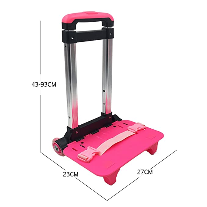 Amazon.com | Backpack Trolley - Wheeled Trolley Hand Aluminium Alloy Folding Trolley Cart for Backpack (Pink, 2 Wheels) | Luggage Carts