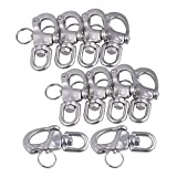 Mxfans 10Pieces 67x39mm 304 Stainless Steel Durable Swivel Snap Shackle Small Size