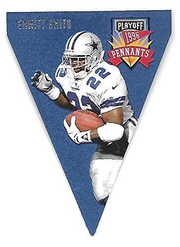 EMMITT SMITH 1996 Playoff Pennants Contenders die cut #22 Dallas - 1996 Playoff Card